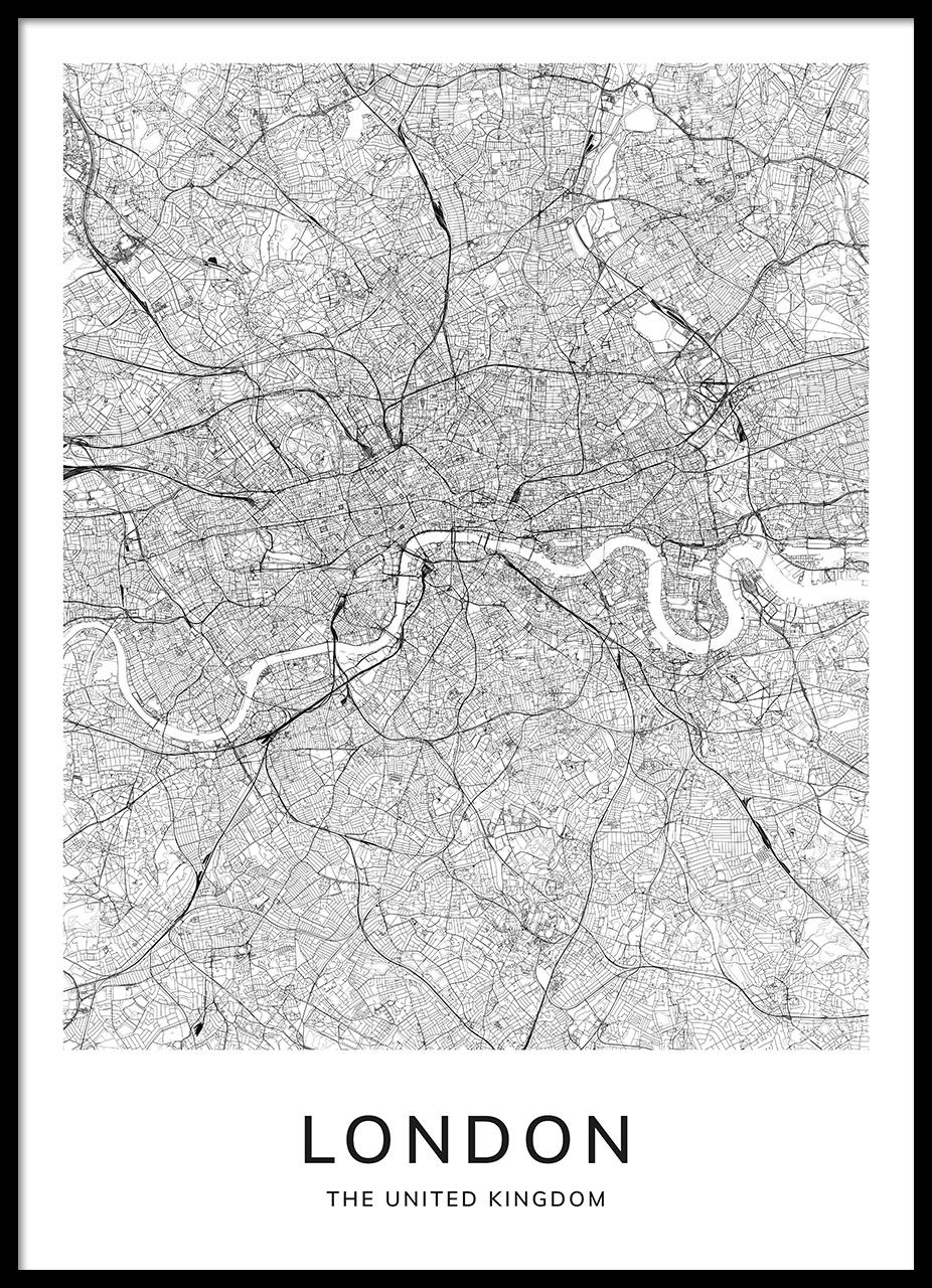 London In A Map.London Map Poster
