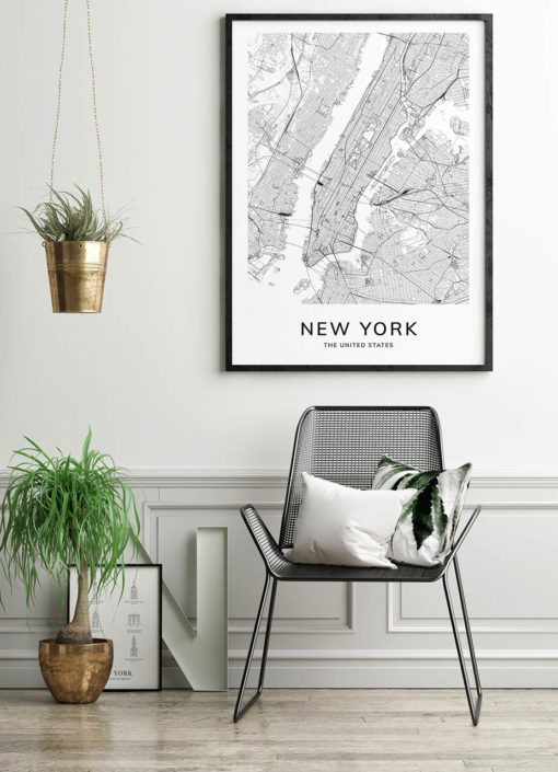 New York Map Poster