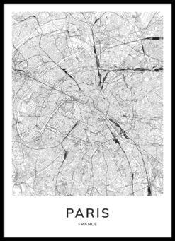 Paris Map Poster